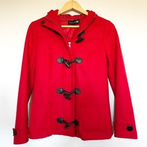 Forever 21 Red Wool Blend Jacket Sz Medium